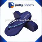 2015 new arrvial high heel shiny hollow shoe ladies wedge sandal