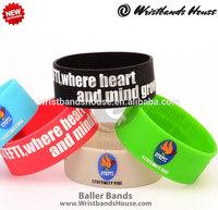2014 Good sale awareness wristbands   Wonderful arm silicone bands   Excellent awareness silicone bracelets