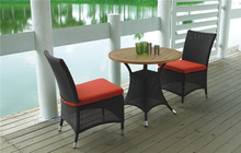 modern rattan coffee table and chairs