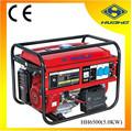 5.0kw generador de la gasolina con 13hp de gasolina del motor de arranque eléctrico, rpm 3600 monofásico generador de la gasolina