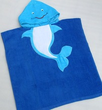 100% Cotton Velour Fiber Reactive Printed Beach Towel For Kids