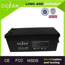 Factory direct sell gel battery 12v 200ah in parallel battery solar 12v 400ah