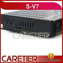 Hot selling s v7 digital satellite Dual-Core CPU new receiver s-v7 ROM 400M,Serial Flash 8M receiver satallite receiver v7