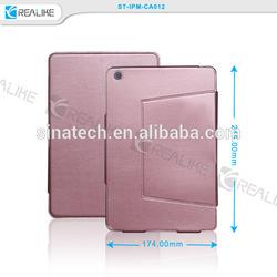 factory price leather case for ipad mini,steady holder for ipad mini