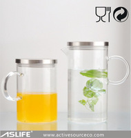 ASJ2004New_New Coming Glassware Product The 1500ml Water And Juice Glass Jugs