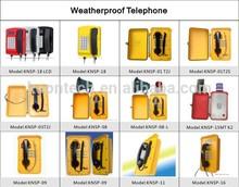 telephone covers outdoor telephone out door use sos phone Loud speaking weatherproof phone KNSP-08