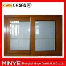 wooden grain finished basement sliding windows/aluminum windows