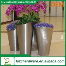 OEM artificial pot flower,metal flower pot rack,stainless steel garden flower pot