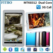 Hot Sale MTK8312 two sim Dual Core bluetooth cdma gsm 3g tablet pc