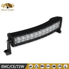 72w rectangle 6120lm flood/spot/combo beam led light bar