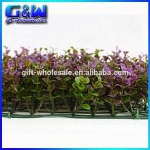 25*25cm Decorative Plastic Money Leaves Grass Lawn Artificial Purple Grass for Garden