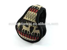knitting for exterior winter ear muff /bag