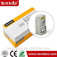 Prefessional company supply good quality cat5e STP ri45 plug/8p8c shielded rj45 connectors from china