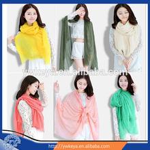 2015 fashion solid voile pashmina scarf,wholesale pure color big voile shawl