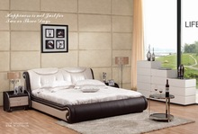 leather bed , classic comfortable bed
