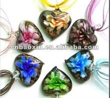 Fashion heart shape murano glass pendant