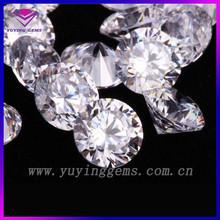 Wholesale CZ Gemstone 1mm to 10mm Round CZ stone machine cut white CZ