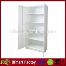 White steel cabinet door lock