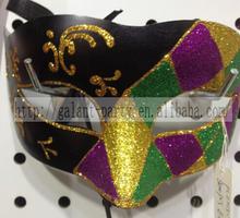 Factory Halloween Masquerade Handmade Elegant Blank Print Mask Woman Colorful Eye Mask for Dance Woman and Man