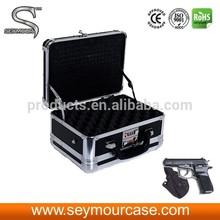 Leather Gun Case Aluminum Pistol Case Glock Pistol Accessory