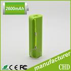 hot selling ! battery external portable mobile powerbank 2600mah, 2200mah, 1500mah, usb battery power pack