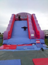 Inflatable giant slid for new year kids playing outside