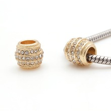gold plating Beads Jewelry Findings Making DIY PAB0392
