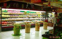 Supermarket Multilayer laminates free combination stand upright freezer forfruit and vegetable