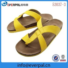 Mens PU Sandals Leather Flip Flops Thong Sandals