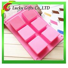 8x5.5x2.5cm Wholesale 6 cavities nonstick flexible rectangle silicone soap mold