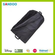 Men's travel garment covers suit bag, funky black custom printed wedding dress garment bags