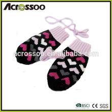 Girls winter acrylic fingerless gloves,one finger mitten gloves for women