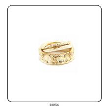 Exquisite Ladies Three Rings Carve Gold Ring