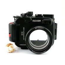 Meikon 100M/325ft Aluminum Camera Waterproof Case For Canon G16
