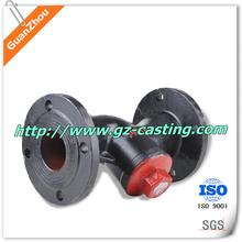 OEM iron casting T-pattern globe valves, vertical stem globe valve