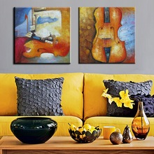 Musical Instrument Abstract Oil Painting