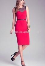 latest design perfect-fit lady sexy midi dress