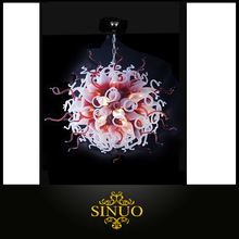 Blown Art Glass Factory Chandelier For Guest Room