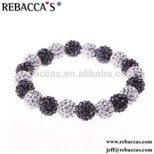 KY- NSB338 White Shamballa Ball Bracelet