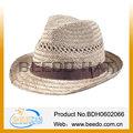 2014 caliente la venta de productos de paja de llanura sombrero panama