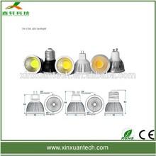 Good heat dissipation silver casting 3w GU10/MR16 led ceiling spot light