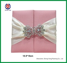 Pink Paper Wedding Invitation Box Paper Gift Wedding Card