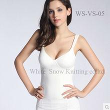 Fashion custom cotton spandex women tank top fitting gym tank tops&singlets ladies sleevess tshirts wholesale