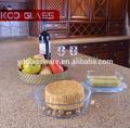 Alta qualidade rodada vidro borosilicato bakeware & cozimento pratos com alça