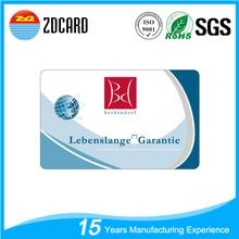 OEM a4 plastic pvc business card