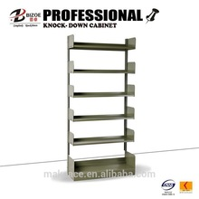 factory direct metal library or book store portable bookshelf