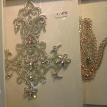Hotfix handmade applique crystal for dresses