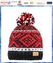 Log Cabin knitting hat patterns men/bulk knit hat/mens knit beanie pattern knitted hat