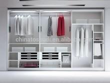 2014 New Design Customized White Wooden Wardrobe Closet A2