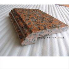 countertop edge of maple red granite